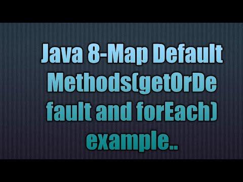 Java 8-Map Default Methods(getOrDefault and forEach