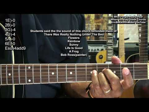 What People REALLY HEAR When You Play Guitar Chords - An EXPERIMENT By EricBlackmonGuitar