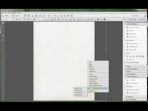 Adobe Acrobat XI: Add Background Image