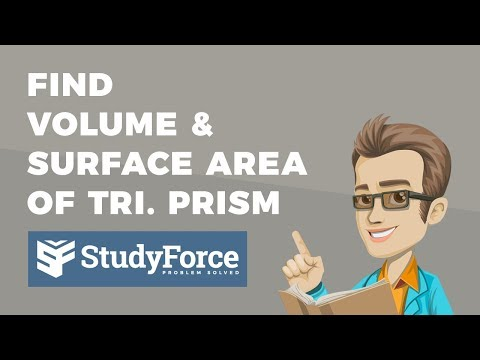 📚 How to find the volume and surface area of any triangular prism