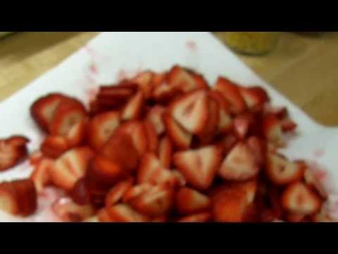 Dehydrated Strawberries - with a trick to take the work out of it.