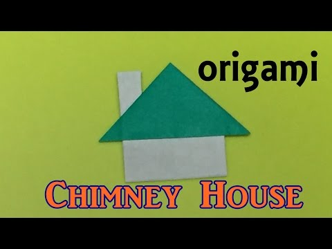 How to make a paper chimney house | origami  house tutorial easy for kids and beginners