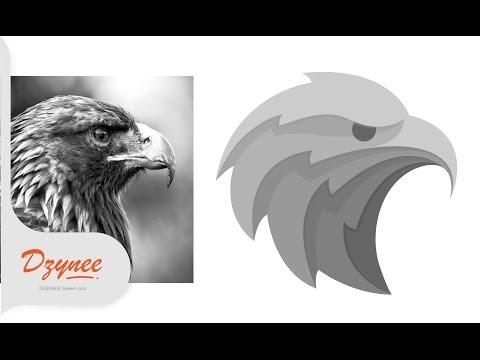 Illustrator Tutorials | Picture to Vector Eagle