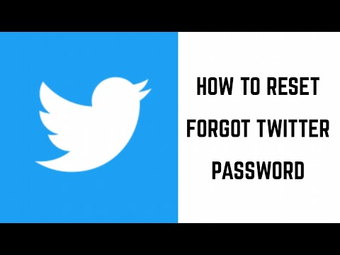 How to Reset Forgot Twitter Password