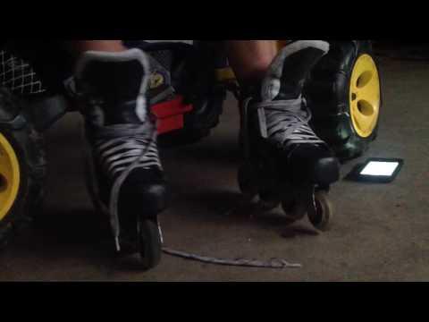 How to tie skates