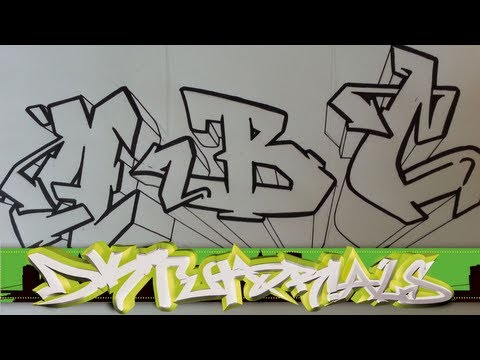 Graffiti Tutorial For Beginners How To Draw Cool Letters A B