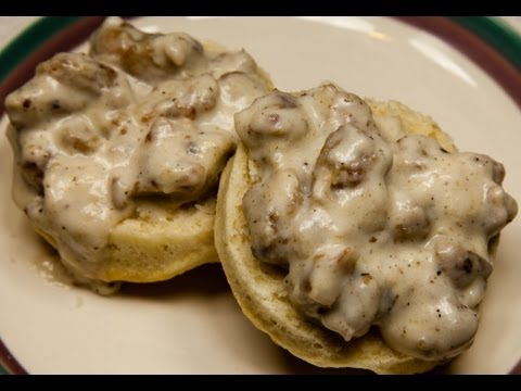 Vegetarian Biscuits and Sausage Gravy (Lower in salt)