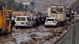 Flash Floods and Mudslides Sweep Through California