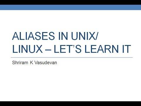 Alias in Linux/Unix.