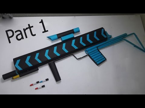 |DIY | How to make a paper' ANACONDA  MACHINE GUN' that shoots paper bullets-PART-1- By Dr. Origami