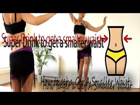 Super Drink to get a smaller waist || Tiny & Slim Waist Workout