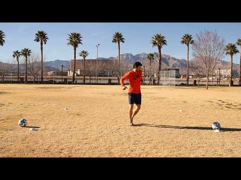 4 Cone Fitness with a Ball - 3x Inside 1x Outside
