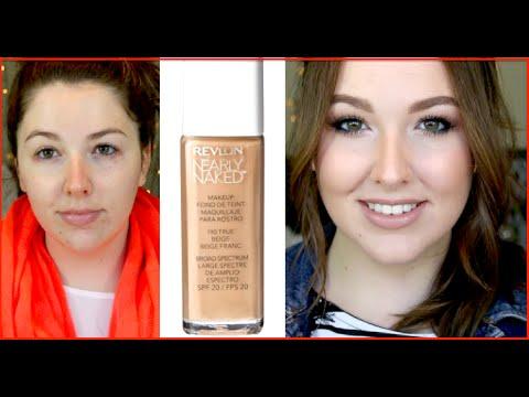 Revlon Nearly Naked Foundation   FIRST IMPRESSION   + My Eye Eczema