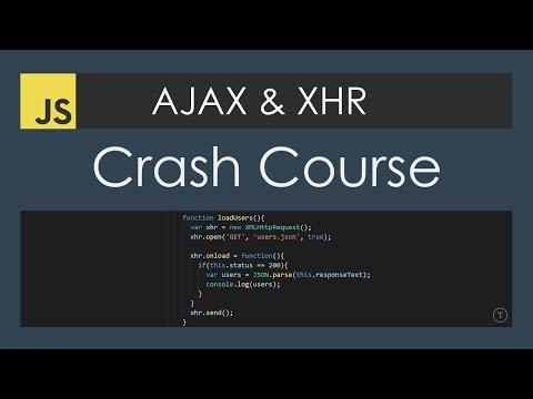 AJAX Crash Course (Vanilla JavaScript)