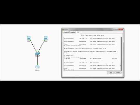 Configuring a Small Switched network with Cisco Router