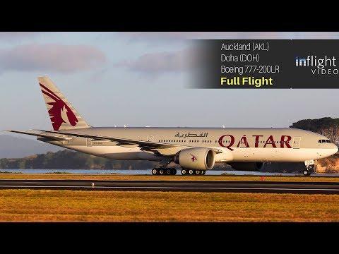 World's Longest Flight - Full Flight: Qatar Airways Auckland to Doha - Boeing 777-200LR