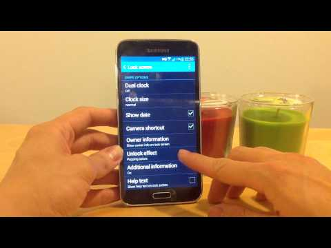 How to use Swipe as Screen Lock for the Samsung Galaxy S5
