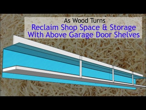 Reclaim Shop Space and Storage With Above Garage Door Shelves
