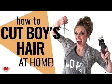 How To Cut Boy's Hair From Home | Jordan from Millennial Moms