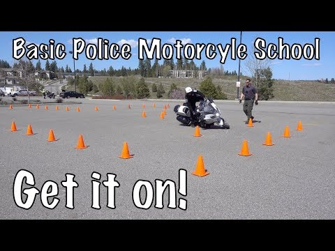 Basic Police Motorcycle School-New Students-High Speed Track & Off Road Riding-Spokane, WA-PT2