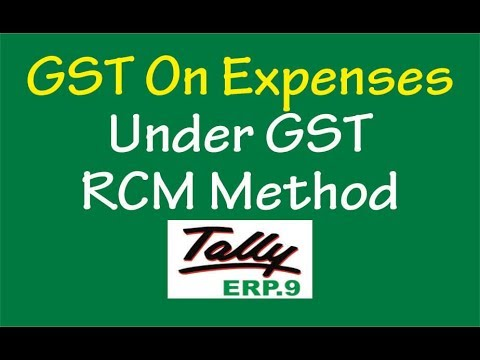 GST On EXPENSES UNDER REVERSE CHARGE METHOD IN TALLY ERP.9