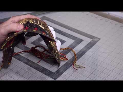 Samurai Armor Project Part 3 - MAKING A YODARE KAKE using Polly Plastics