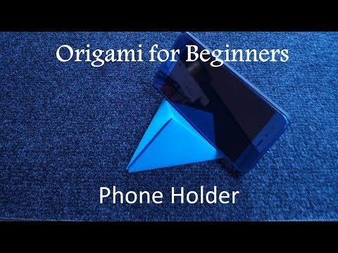 Easy tutorial. How To Make Origami TV remote or phone holder