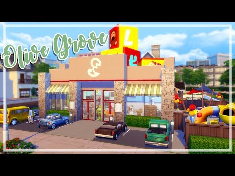 The Sims 4 - Kids Restaurant SPEED BUILD | Olive Grove