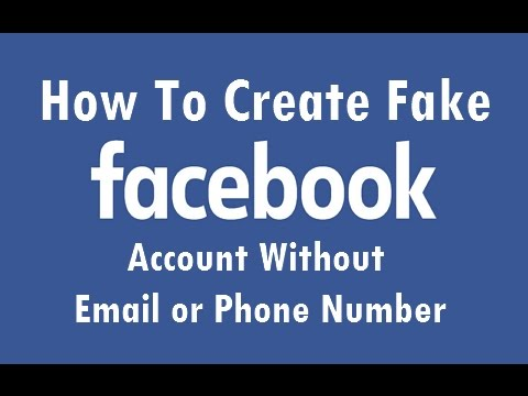 How to make fake Facebook account [Unlimited][Without Email and mobile]