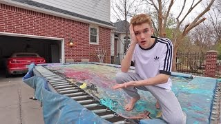 THE TRAMPOLINE IS RUINED... (RIP)