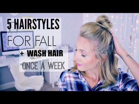 5 Hairstyles For Fall + How To Train Hair To Be Less Greasy