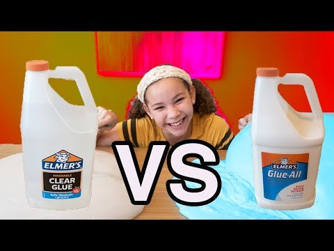 1 GALLON OF ELMER'S GLUE ALL VS 1 GALLON OF ELMER'S CLEAR GLUE GIANT SLIMES