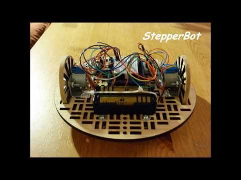 StepperBot: 28BYJ-48 Stepper Motors, UNL2003 driver and Arduino Uno