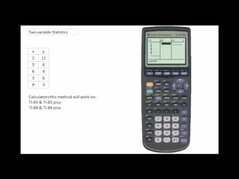 Using the Two Var Statistics mode on the TI-84