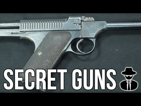 Secret Guns: Fully Automatic .22, Hip Mounted Pistol, Suppressed M1 Carbine