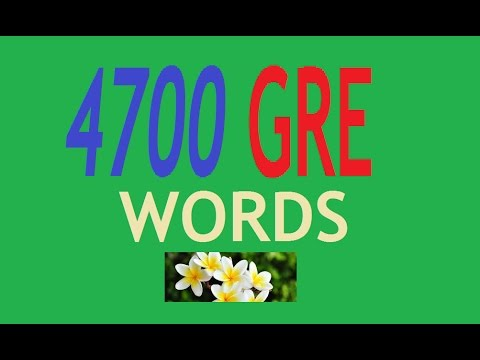 4700 GRE English Words with meaning - disc 1