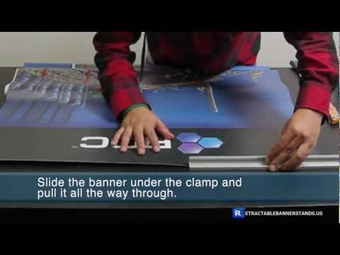 Retractable Banner Stand Trade Show Display Installation Video