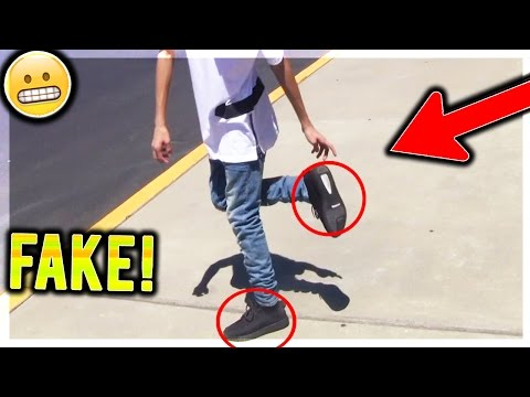 WEARING FAKE YEEZYS IN PUBLIC!! (Social Experiment)