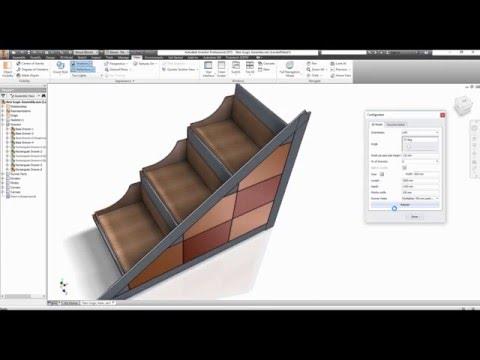 Autodesk Inventor 2015 iLogic Understairs Drawers Unit