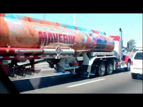 Maverick Kenworth Day Cab Pulling a Tanker Trailer