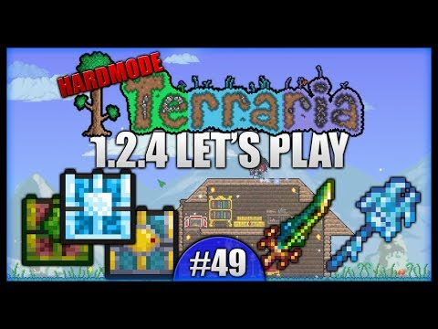 Terra Blade! Dungeon Chests! Making Mannequins!    Let's Play Terraria 1.2.4 [Episode 49]