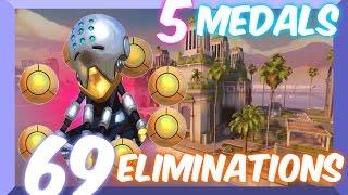 Ranked Overwatch: Top 500 Zenyatta Attack Damage Carry (69 Eliminations)