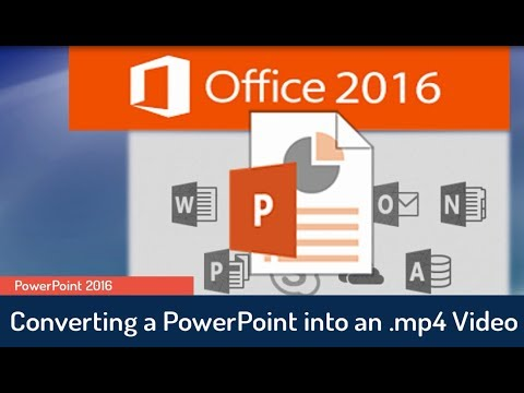PowerPoint 2016 Tutorial: Creating a Video from a Presentation in PowerPoint 2016