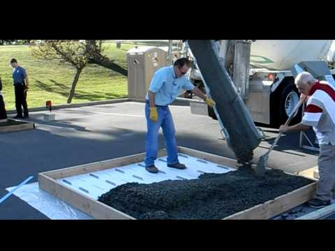 Fox Tilt Up Panel New Underlayment Wetset Product Demo Insulated Concrete Forms