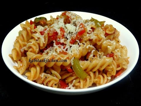 Vegetable Cheesy Pasta Recipe-Indian Style Pasta-Easy and Delicious Pasta rceipe