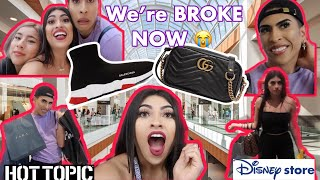 Buying Eachother EVERYTHING WE TOUCH BLINDFOLDED CHALLENGE!