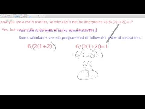 6/2(1+2) Order of Operations Debate | Basic Math | Algebra