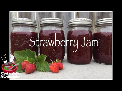 How to Make Strawberry Jam || Canning Strawberries