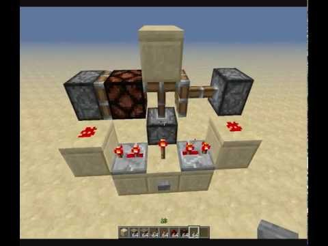 [Minecraft tutorial] Retractable lightning (with redstone lamps)