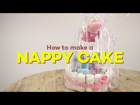 How to Make a Nappy Cake - Step by Step Tutorial